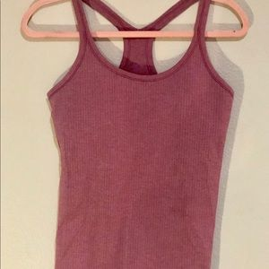 Lululemon ribbed raver tank in pink sz8